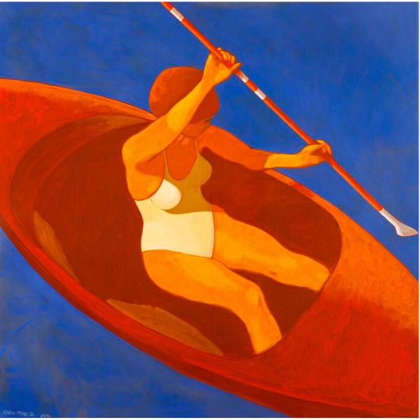 L'OPPORTUNA RELAZIONE TRA LE PARTI, 2010, cm. 80 x 80, tempera su tela