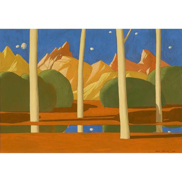 Paesaggio ideale (IX), 2008, cm. 48 x 70, tempera su tavola