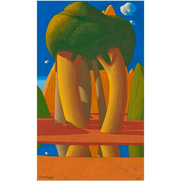 Paesaggio ideale (XXXIII), 2017, cm. 50 x 30, tempera su tavola