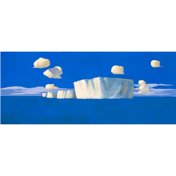 PICCOLO ICEBERG (VIII), 2013, cm. 25 x 60, tempera su tavola