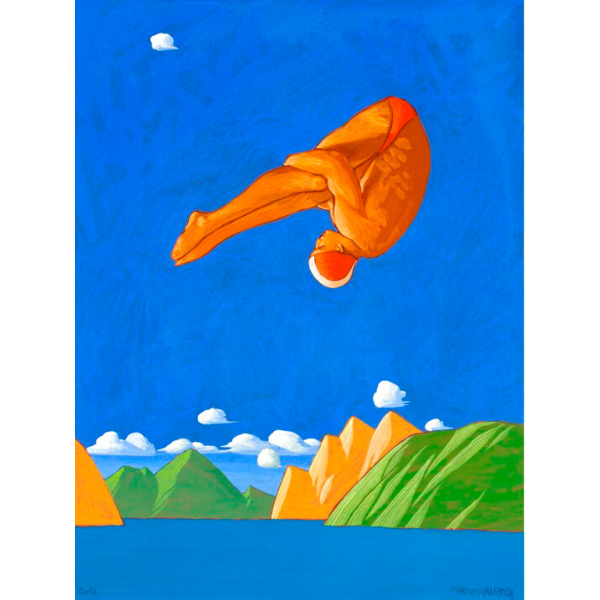 TUFFO (IV), 2012, cm. 40 x 30, tempera su tavola