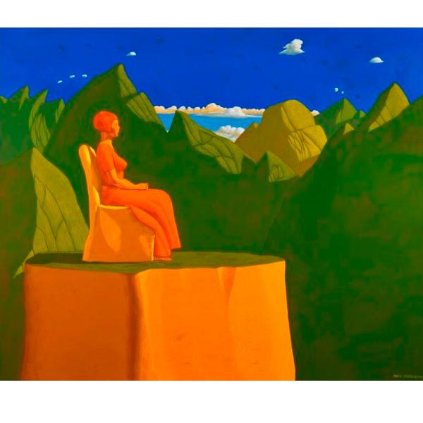 BELVEDERE (XV), 2010, cm. 100 x 120, tempera su tela