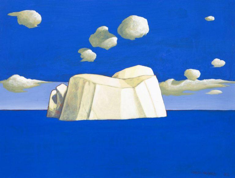 PICCOLO ICEBERG (V), 2012, cm.30 x 40,  tempera su tavola