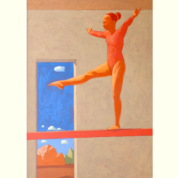 A UN METRO DA TERRA, 2015, cm. 92 x 65, tempera su tavola