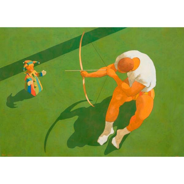 Caccia grossa (III), 2008, cm. 100 x 140, tempera su tela