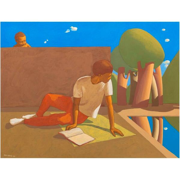 FALSO ALLARME, 2017, cm. 90 x 120, tempera su tavola