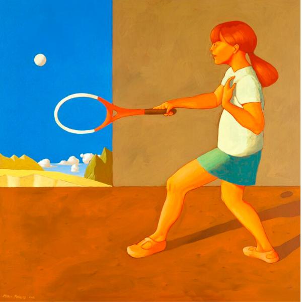 Finale di partita, 2012, cm. 100 x 100, tempera su tela