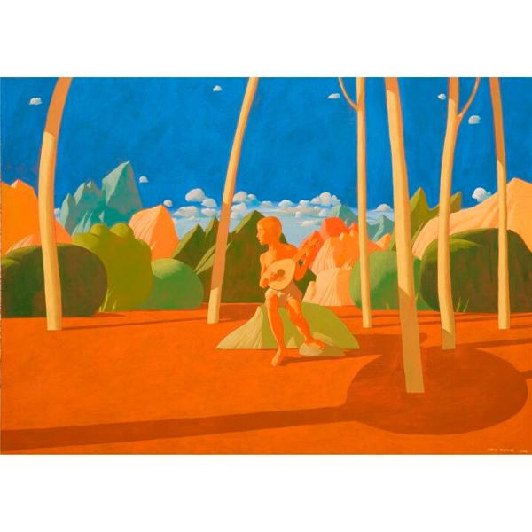 Fingendosi Orfeo, 2008, cm. 100 x 140, tempera su tela