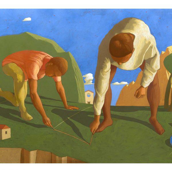 FONDAZIONE DI UNA CITTA', 2014, cm. 100 x 150, tempera su tela (1)