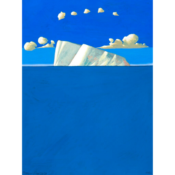 Piccolo Iceberg (VI), 2012, cm. 40 x 30, tempera su tavola