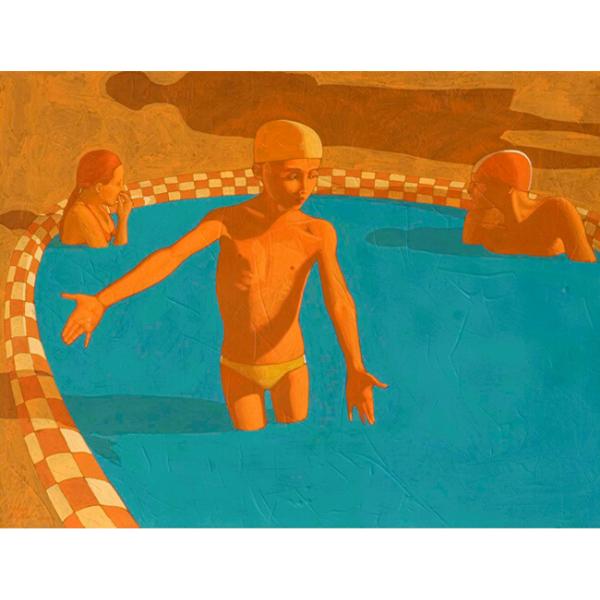 Piscina (XVI), 2007, cm. 80 x 105, tempera su tavola