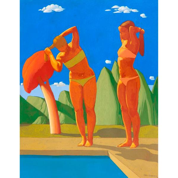 Piscina (XXVIII), 2016, cm. 70 x 55, tempera su tavola