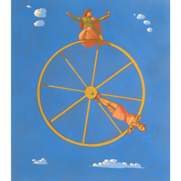 Ruota del tempo, 2018, cm. 80 x 70, tempera su tavola