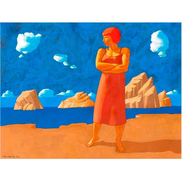 Spiaggia (X), 2015, cm. 60 x 80, tempera su tavola