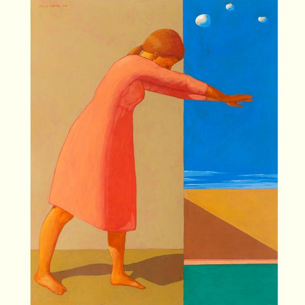 SULLA SOGLIA, 2019, cm. 100 x 80, tempera su tela