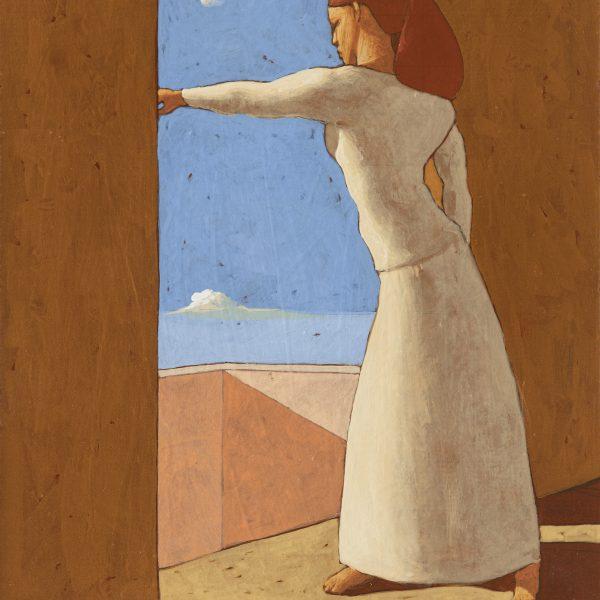SULLA SOGLIA (III), 2020, cm. 40 x 30, tempera su tavola