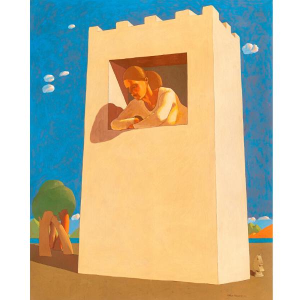 Torre d'avorio, 2019, cm. 130 x 105, tempera su tavola